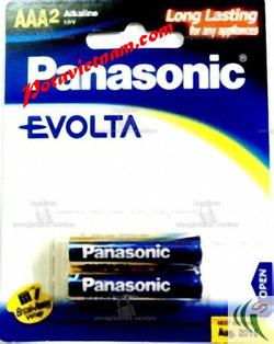 Ảnh số 71: Pin đũa AAA, Pin thông dụng, Pin máy ảnh máy quay, Pin 1.5V, Pin Kiềm Alkaline, Pin PANASONIC EVOLTA LR03EG/2B (1 Vỉ/ 2 viên pin) - Giá: 40.000