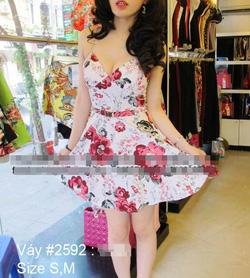 Ảnh số 13: váy hoa hồng nền trắng - Giá: 450.000