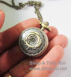 Ảnh số 14: DCDH 017_Đồng hồ dây chuyền bông hồng  - 110.000 VNĐ - Giá: 110.000