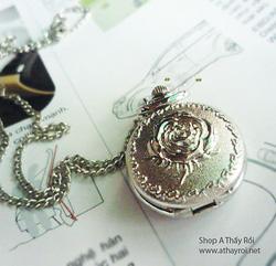 Ảnh số 15: DCDH 017_Đồng hồ dây chuyền bông hồng  - 110.000 VNĐ - Giá: 110.000