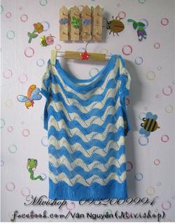 Ảnh số 85: Áo len lưới ( xanh dương) - Giá: 150.000