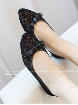Ảnh số 75: giày bệt ren nơ - Giá: 180.000