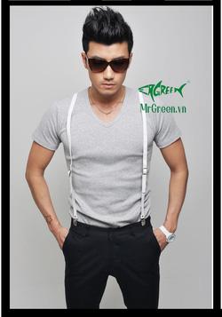Ảnh số 5: áo thun cổ tim cotton co dãn 4 chiều - Giá: 99.000