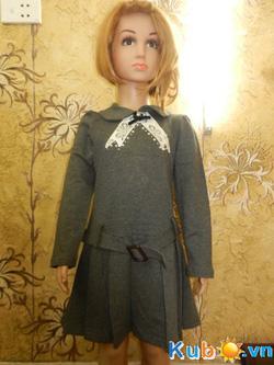 Ảnh số 2: Váy ghi nơ có đai Xuất Hàn cho bé từ 3 đến 9 tuổi giá cửa hàng: 215k - Giá: 215.000