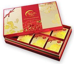 Ảnh số 3: Trăng Vàng Bạch Kim (6 bánh + trà) - Gold + đỏ - Giá: 1.100.000