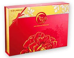 Ảnh số 4: Trăng Vàng Hoàng Kim 1 (4 bánh + trà) - Đỏ + Gold - Giá: 770.000