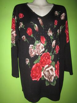 Ảnh số 3: Áo Mongtoghi dáng thụng in hoa, free size - Giá: 350.000