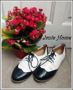 Ảnh số 1: Giày oxford đen trắng - Giá: 240.000