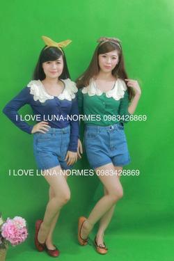 Ảnh số 86: áo thun cotton xanh lá cổ bèo iu ném - Giá: 180.000