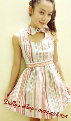 Ảnh số 34: váy kẻ cổ rời - Giá: 170.000