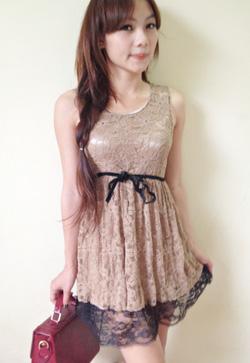 Ảnh số 36: váy ren xòe - Giá: 130.000