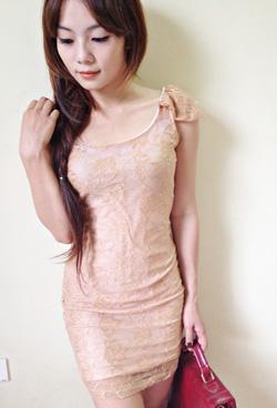 Ảnh số 38: váy ren khoét lưng - Giá: 190.000