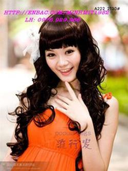 Ảnh số 42: Korea - xoăn nhẹ mái bằng Tóc có da đầu chịu nhiệt - Giá: 900.000