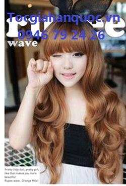 Ảnh số 41: Korea - xoăn nhẹ mái bằng Tóc có da đầu chịu nhiệt - Giá: 850.000