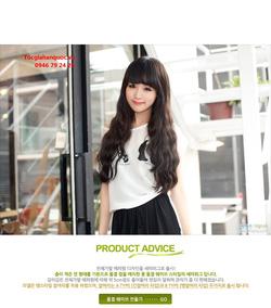 Ảnh số 50: Korea tóc xoăn nhẹ mái bằng, chéo - Giá: 750.000