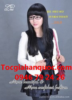 Ảnh số 53: Korea tóc xoăn nhẹ mái bằng, chéo - Giá: 750.000