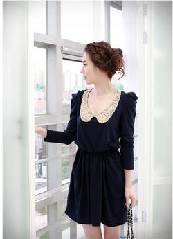 Ảnh số 19: Váy thu cổ ren (RX90) - Giá: 185.000