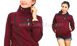 Ảnh số 29: áo khoác nỉ màu và mẫu y hình - Giá: 170.000