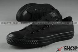 Ảnh số 14: Giày Converse đen full cao cổ - Giá: 350.000