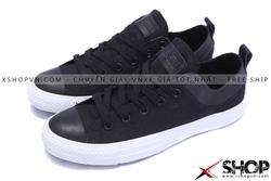 Ảnh số 53: Giày Converse Kaki Viền Da đen thấp cổ - Giá: 449.000