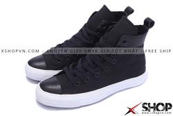 Ảnh số 55: Giày Converse Kaki Viền Da đen cao cổ - Giá: 499.000