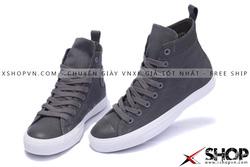 Ảnh số 59: Giày Converse Kaki Viền Da ghi cao cổ - Giá: 499.000