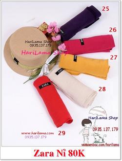 Ảnh số 7: Các màu khăn Zara nỉ - Giá: 123.456