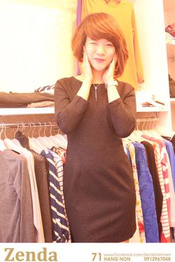 Ảnh số 34: Đầm MANGO nữ chấm bi màu đậm - Giá: 320.000