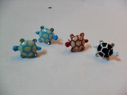 Ảnh số 72: full 2 đôi hoa tai hình rùa đính hạt đá - Giá: 10.000