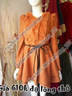 Ảnh số 7: áo dạ cổ lông - Giá: 550.000