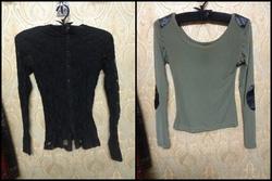 Ảnh số 29: áo ren đen 100k, áo màu rêu pha da 120k - Giá: 100.000
