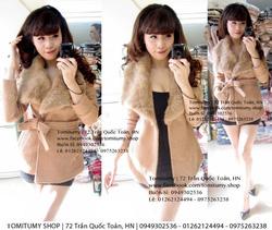 Ảnh số 2: áo dạ cổ lông V (đã bán) - Giá: 700.000