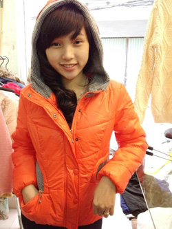 Ảnh số 12: áo phao mũ len - Giá: 360.000