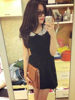 Ảnh số 24: váy nhung cổ đính đá sale 500k =>>350k - Giá: 350.000