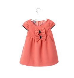 Ảnh số 6: Váy dạ 2 nơ hồng - Giá: 250.000