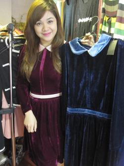 Ảnh số 52: Váy nhung xòe - Giá: 395.000
