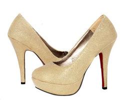 Ảnh số 21: Giày cao gót kim tuyến mũi bầu - Giá: 260.000