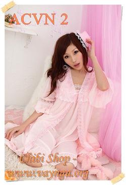 Ảnh số 58: Set Áo choàng + Váy ngủ - Giá: 240.000