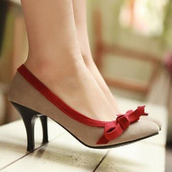 Ảnh số 36: Giày cao gót viền nơ đỏ CG36 - Giá: 370.000