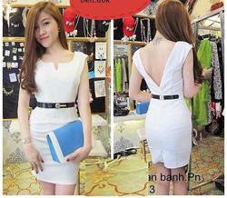 Ảnh số 40: Đầm body trắng tinh khôi lưng V sành điệu DX38 - Giá: 180.000
