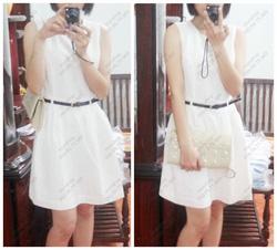 Ảnh số 29: Váy trắng thêu hoa nhí F21: 330.000 - Giá: 220.000