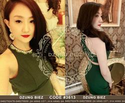 Ảnh số 8: Đầm body cổ đính đá đan lưng Dzung Biez - Giá: 100.000