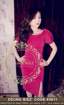 Ảnh số 29: Váy ngọc xẻ đùi fake Dzung - Giá: 250.000