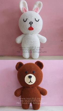 Ảnh số 97: Thỏ Cony 100K - Gấu Brown 100K - Giá: 100.000