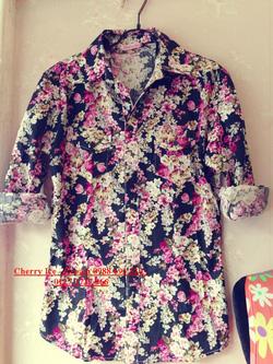 Ảnh số 37: Áo lanh hoa nhí, chất mát, mặc cực xinh - Giá: 150.000
