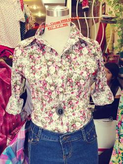 Ảnh số 38: Áo lanh hoa nhí, chất mát, mặc cực xinh - Giá: 150.000