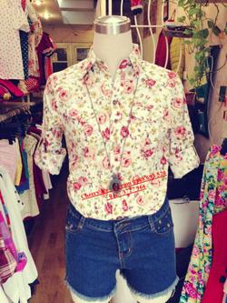Ảnh số 40: Áo lanh hoa nhí, chất mát, mặc cực xinh - Giá: 150.000