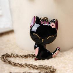 Ảnh số 46: Dây chuyền mèo đen - Giá: 40.000