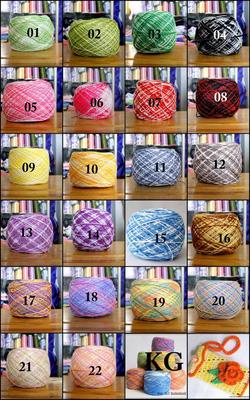Ảnh số 2: sợi cotton Việt Nam màng loang - Giá: 16.000