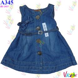 Ảnh số 31: Váy Jean xếp li 381,r/8,bé 1t-7t - Giá: 1.100